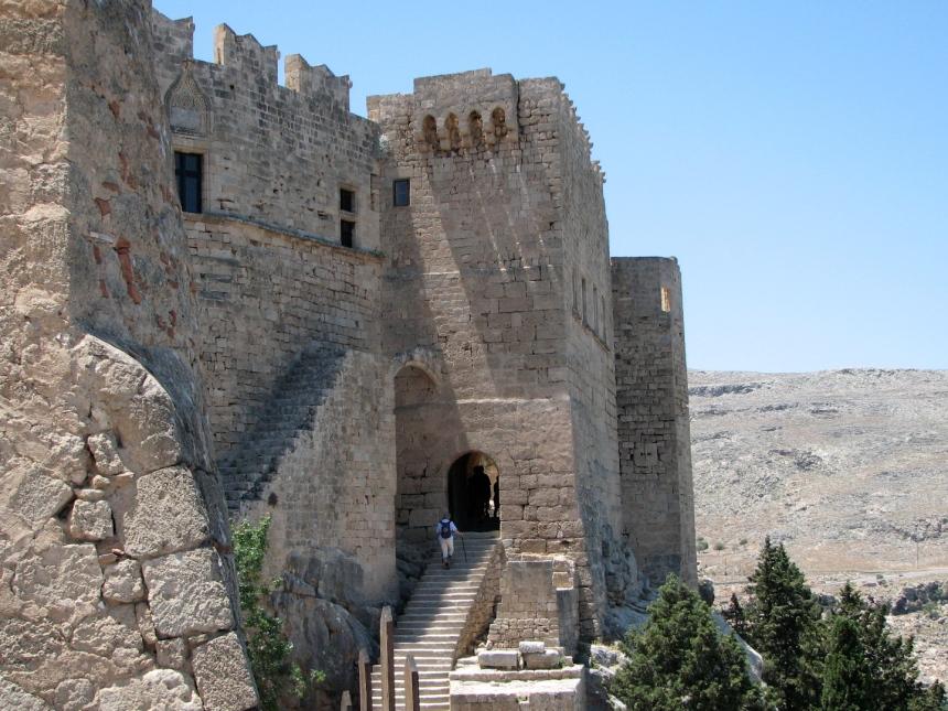 Acropolis of Lindos, Rhodes, Greece.