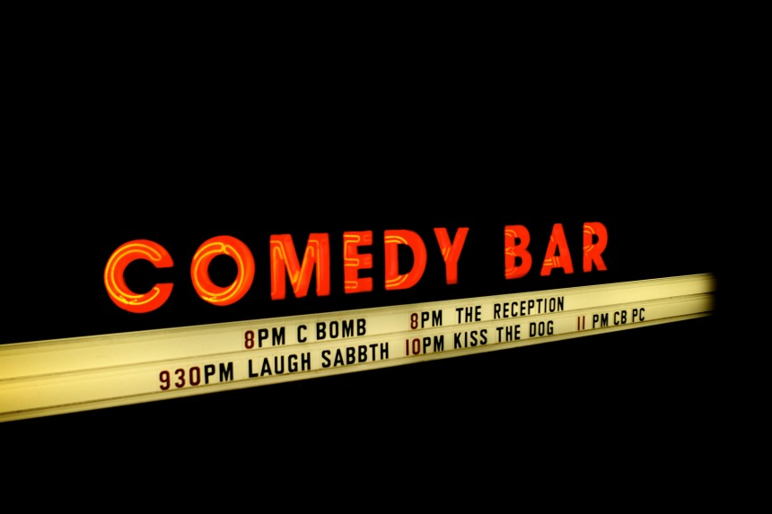 comedy bar signage