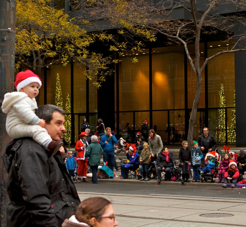 waiting for santa with daddy by mm