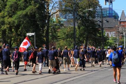 Union flies Canadian flag